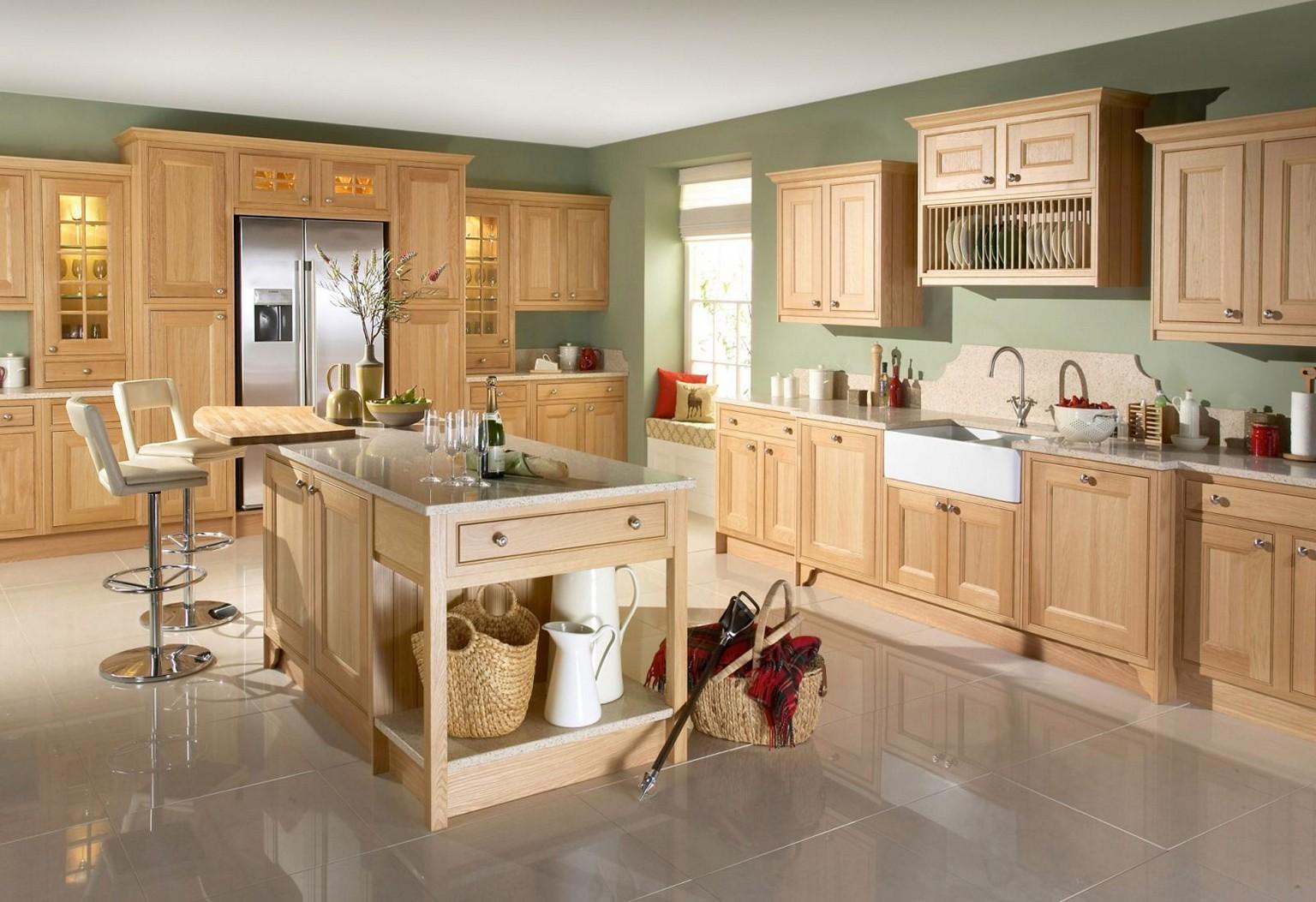 Charming Natural Oak Kitchen Cabinet Smart Online Kitchen Design