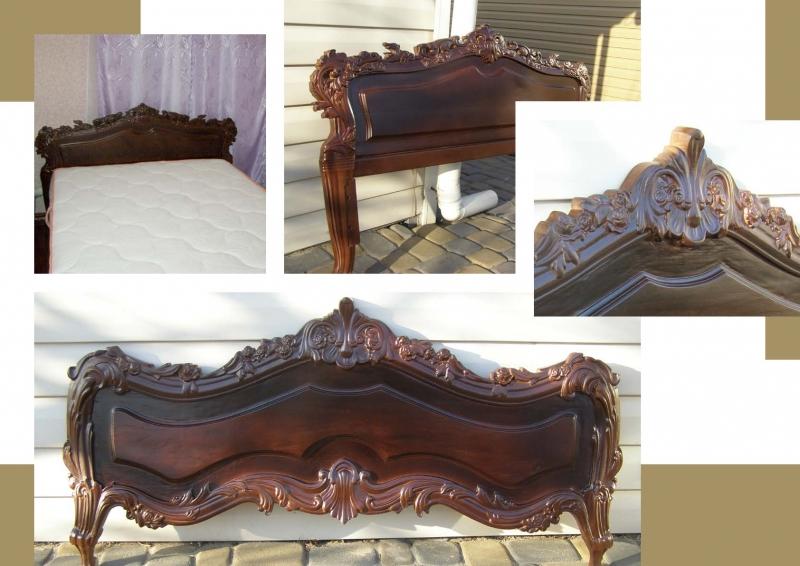 Кровать резная из массива дерева на заказ - swood